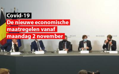 Covid-19  – De nieuwe economische maatregelen vanaf maandag 2 november