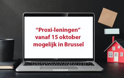 """Financiën : """"Proxi-leningen"""" vanaf 15 oktober mogelijk in Brussel"""