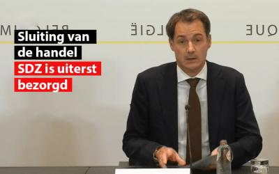 """Sluiting van niet-essentiële handelszaken : Daniel Cauwel, Voorzitter van SDZ: """"Ik wacht nog steeds dat men aantoont dat het onmogelijk was om zowel levens als handelszaken te redden!"""""""
