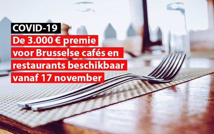 premie brusselse cafes restaurants beschikbaar november