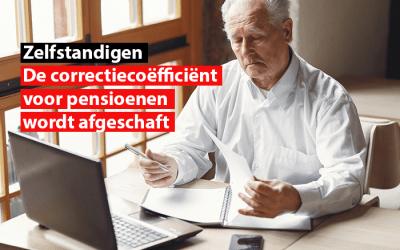 De correctiecoëfficiënt voor pensioenen voor zelfstandigen wordt afgeschaft