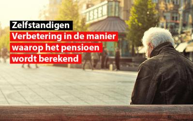 Sociaal statuut van de zelfstandigen : Verbetering in de manier waarop het pensioen wordt berekend
