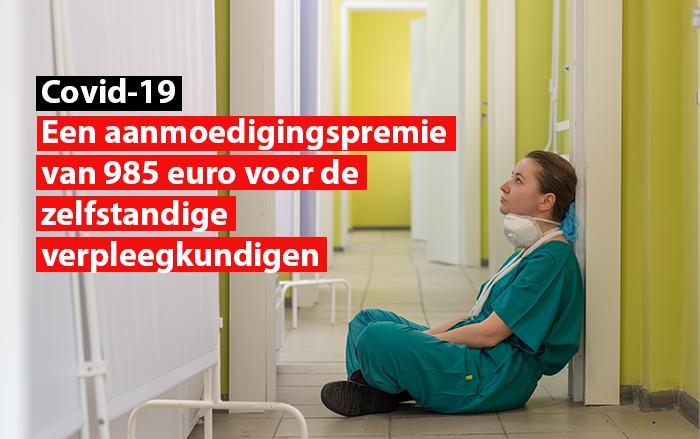 Een aanmoedigingspremie van 985 euro voor de zelfstandige verpleegkundigen