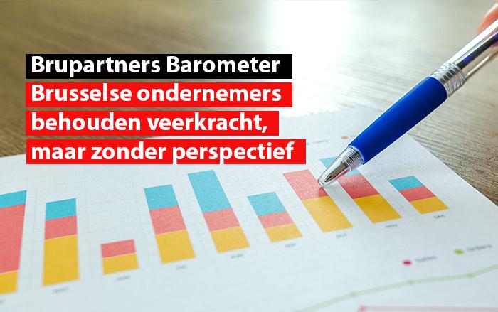 Brupartners Barometer : brusselse ondernemers behouden veerkracht, maar zonder perspectief