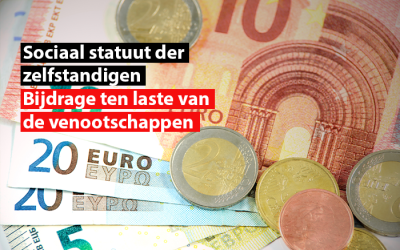 Sociaal statuut der zelfstandigen : bijdrage ten laste van de vennootschappen voor 2021