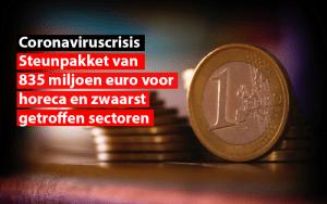 Steunpakket van 835 miljoen euro voor horeca enz