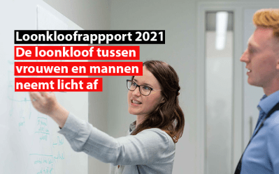 Loonkloofrappport 2021 : de loonkloof tussen vrouwen en mannen neemt licht af