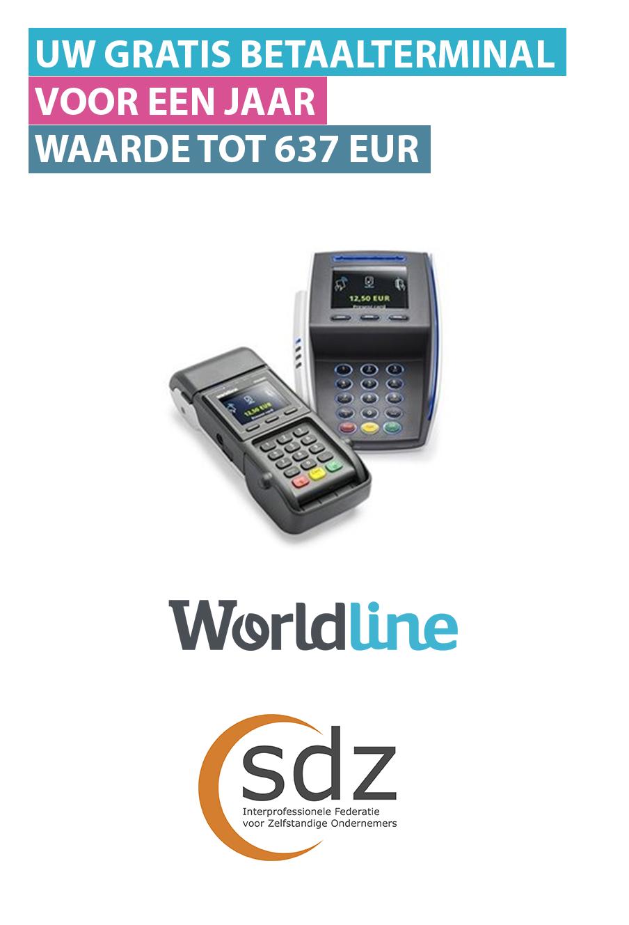 gratis betaalterminal worldline sdz federatie